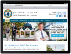 Jonathan P. Culver Law Firm, with offices in Gainesville and Ocala, Florida is proud to debut our new website.